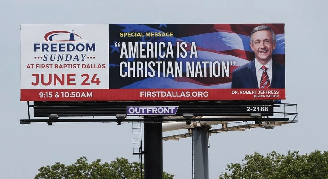 america is a christian nation billboard removed