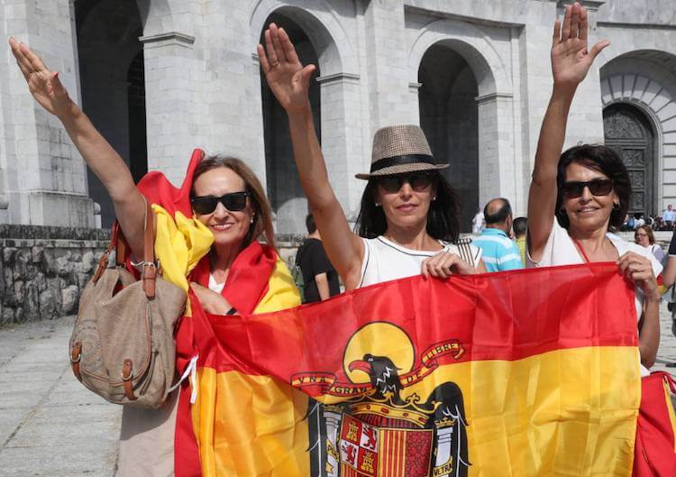 Hundreds Protest Exhumation of Franco's Remains in Spain's Valley of the Fallen