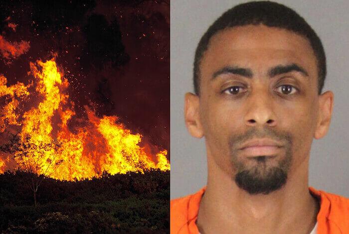 black man forest fires