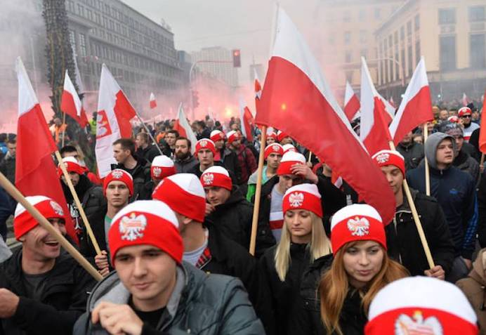Jews Attempt to Shame and Smear Poles for Celebrating Their White Christian Nation