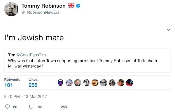 tommy robinson jewish